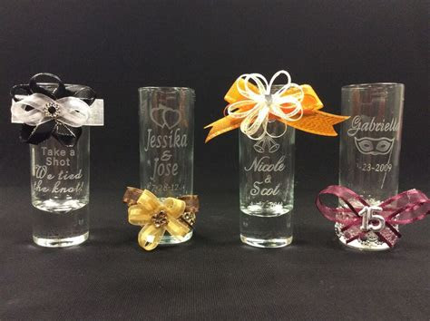 personalized shot glasses party favors wedding favors