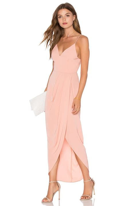 Shona Joy Stellar Drape Dress in Dusty Pink   REVOLVE