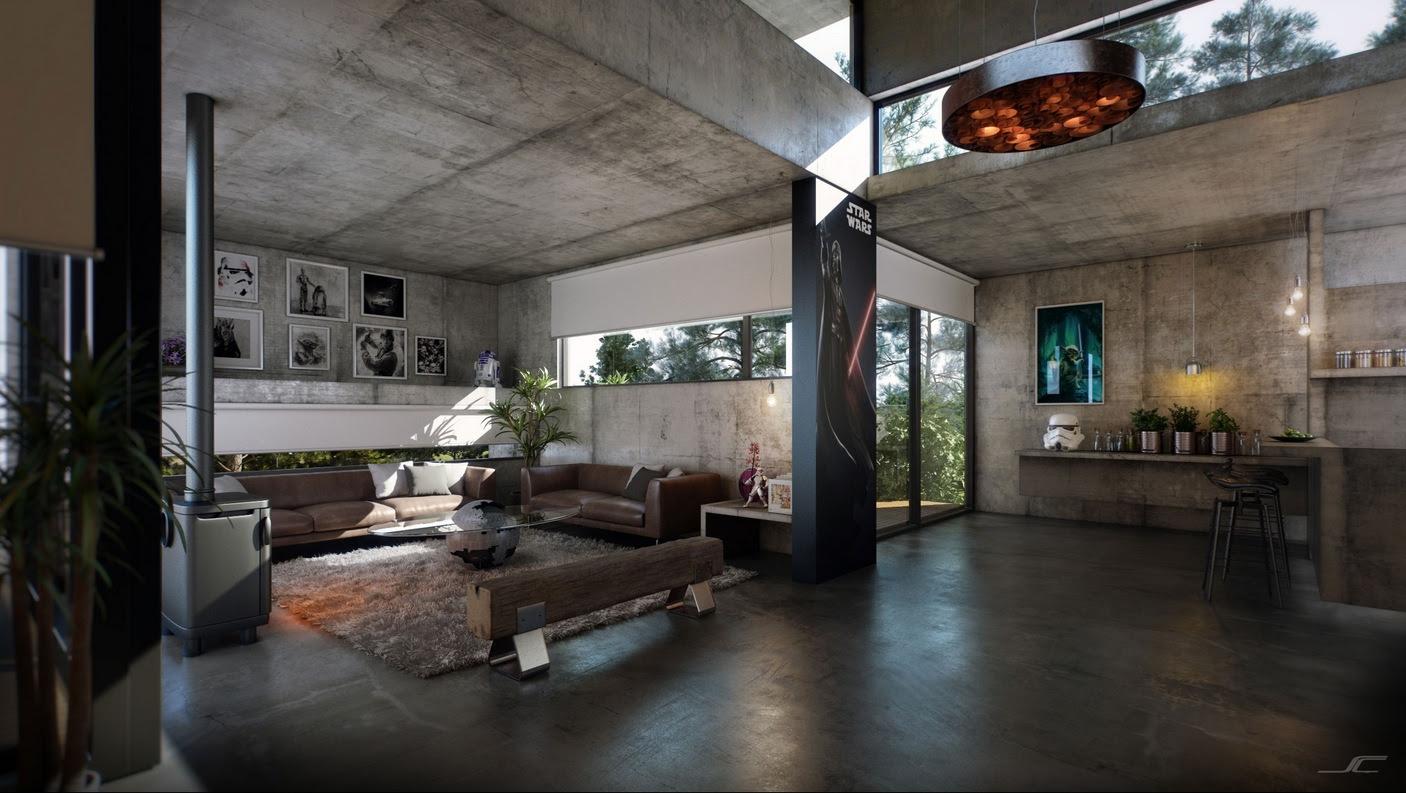 Coba Desain Ruangan Dengan Material Ekspos Pada Dinding Rooangcom