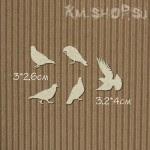 Чипборд Набор голуби 5шт