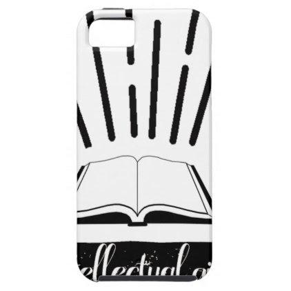 Intellectual Girl Funny Nerd Slogan Print iPhone SE/5/5s Case