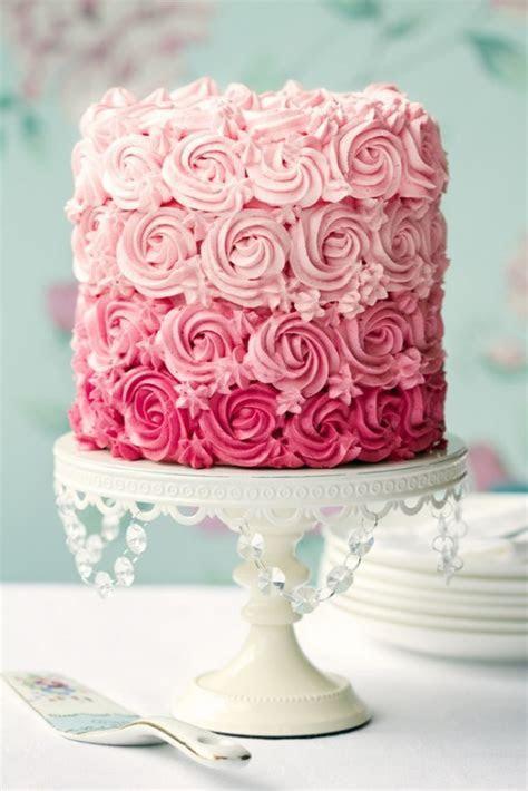 Pink ombré rosette wedding cake   Books Worth Reading