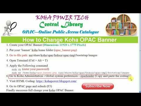 How to Change Koha OPAC Banner