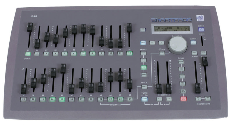 Etc smartfade 1248 48 channel dmx stage lighting console | reverb.