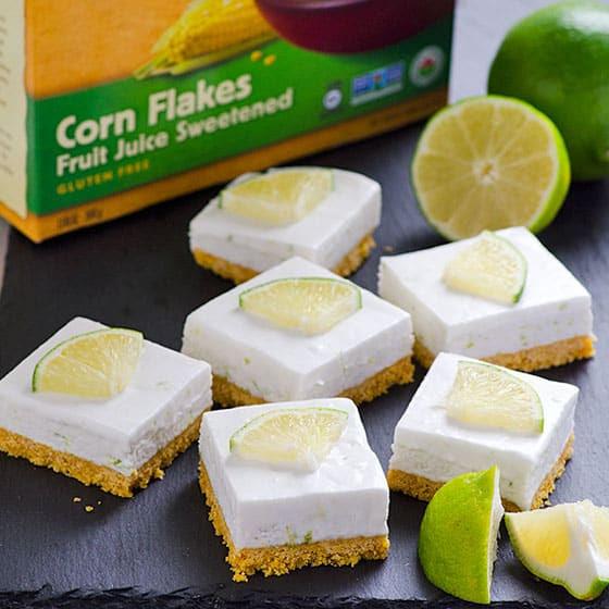 Clean Eating No Bake Key Lime Squares