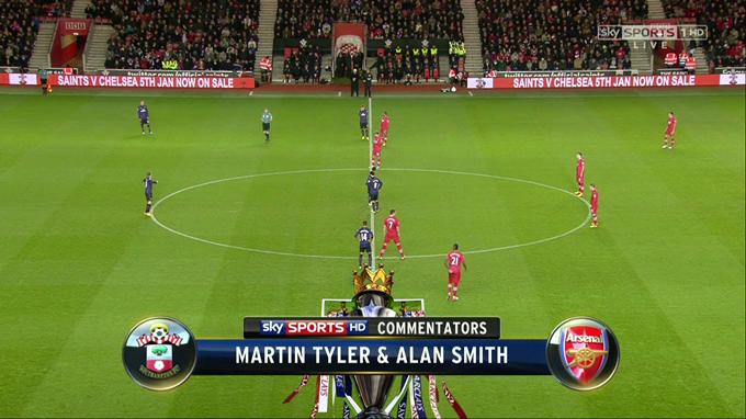 FUTBOL: Premier League - Southampton vs Arsenal - 1/1/2013