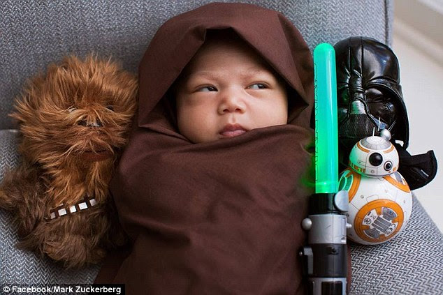 Mark Zuckerberg has not been shy over his excitement at being a first-time dad, and that stretched to his love of Star Wars on Friday, with a gorgeous photo of his little girl, Max, dressed as a Padawan going up on his site