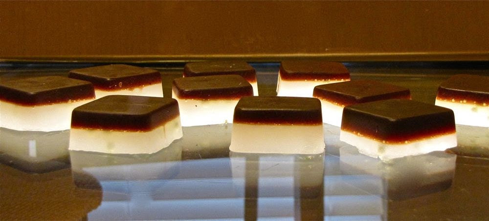 CHOCOLATE MINT Two Layer Olive Oil Soap (Organic)