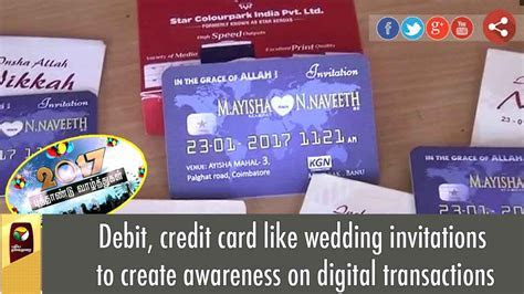 Debit, credit card like wedding invitations to create