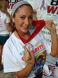 Geraldine Bazan en Celebrity 5k Run Miami.JPG