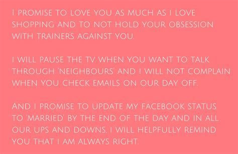 Funny Wedding Vows Make Your Guests Happy cry   Wedding