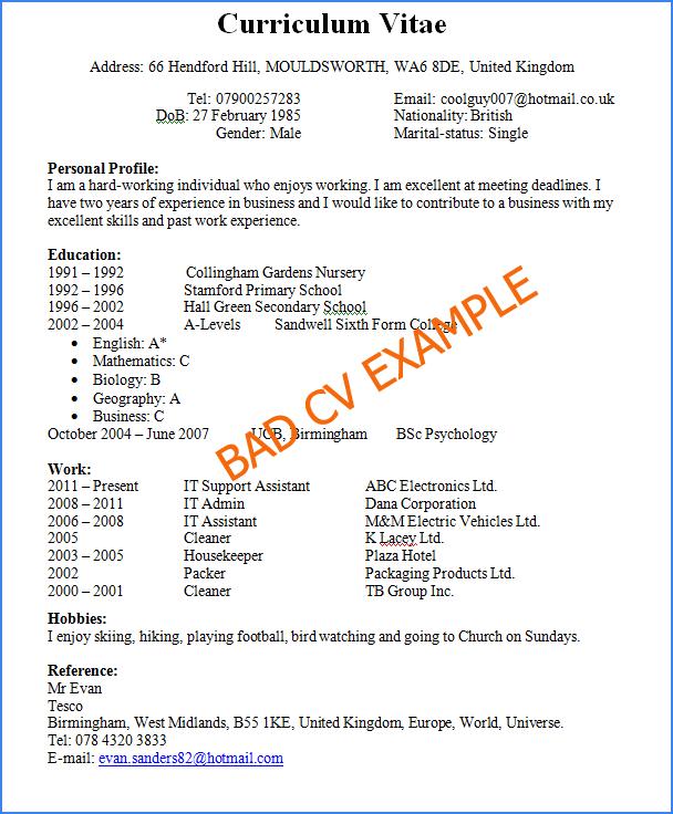 Contoh Cv Resume [17] - Hontoh