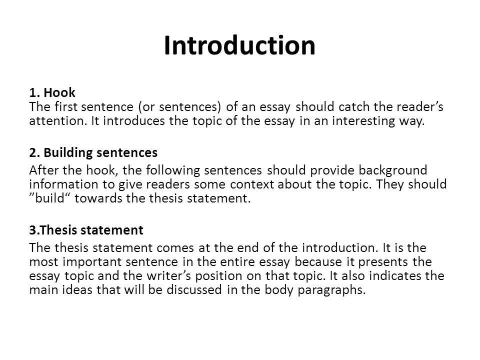 how to write an introduction for an essay background