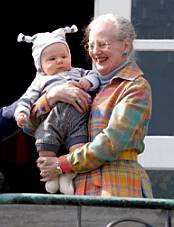 Queen Margrethe and the little prince