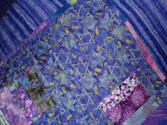 violet crumble corner tulip quilting