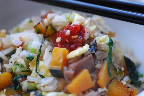 Sambal on fried rice