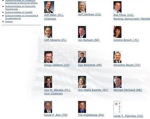 Members of House Veterans Affairs Committee