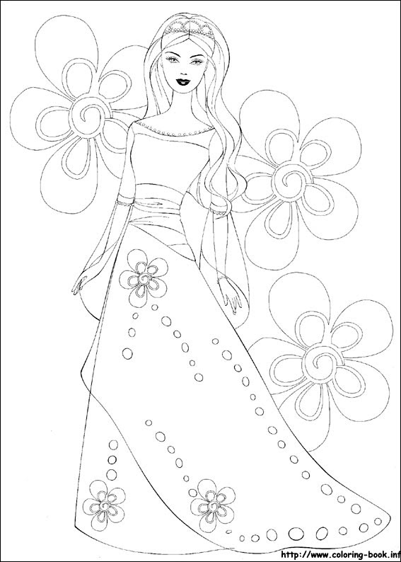 Barbie Coloring Picture
