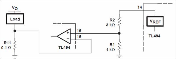 TL494-mạch hiện tại giới hạn
