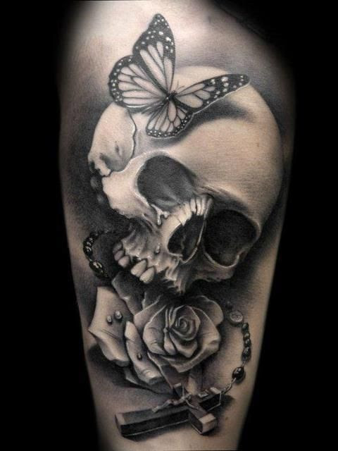 Gun And Skull Rose Tattoo Tattoomagz
