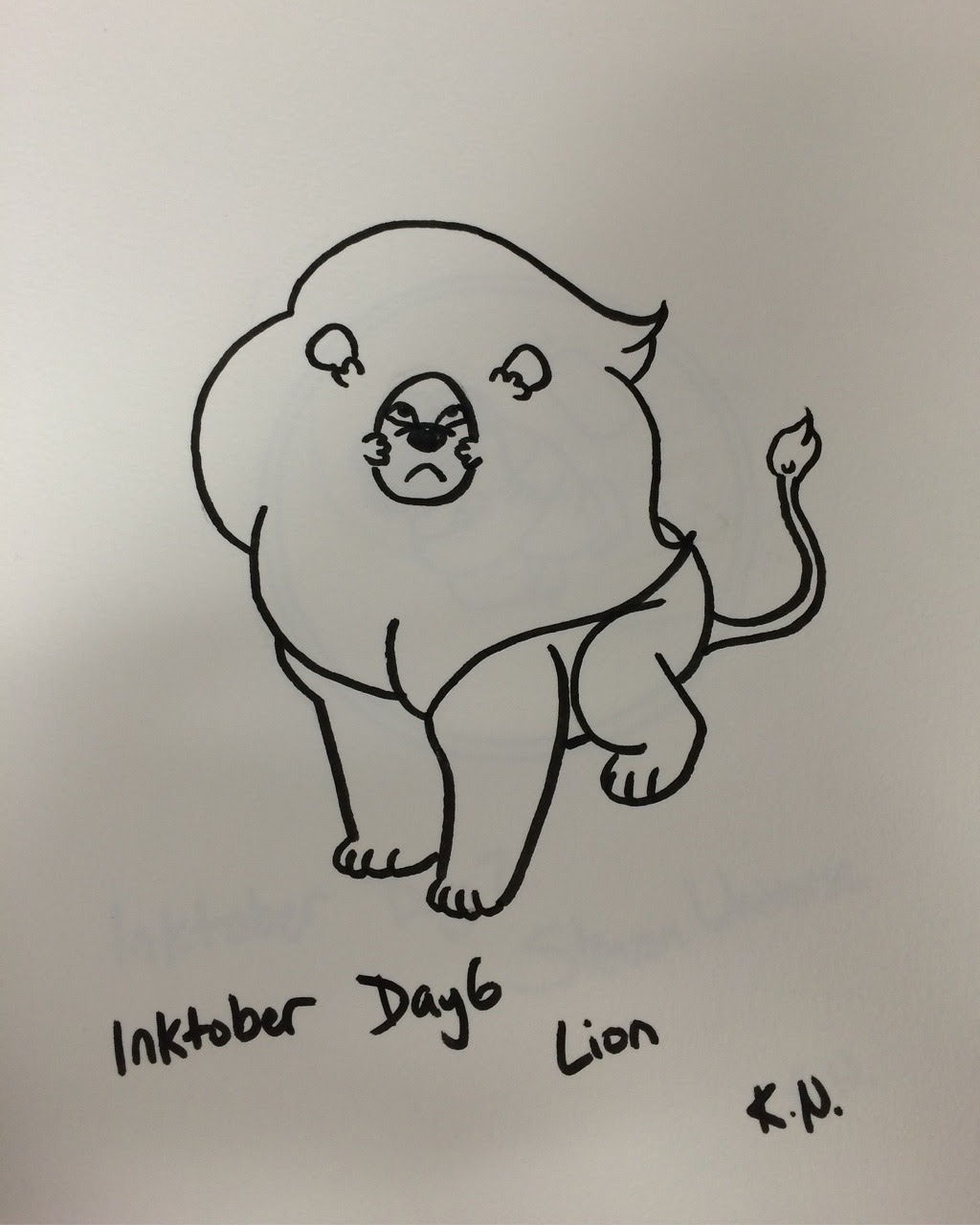 Late Inktober Day 6 and Inktober Day 7: Featuring Lion and Steven!