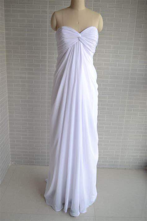 Empire Wedding Dress,Plus Sizes Beach Wedding Dress,Simple