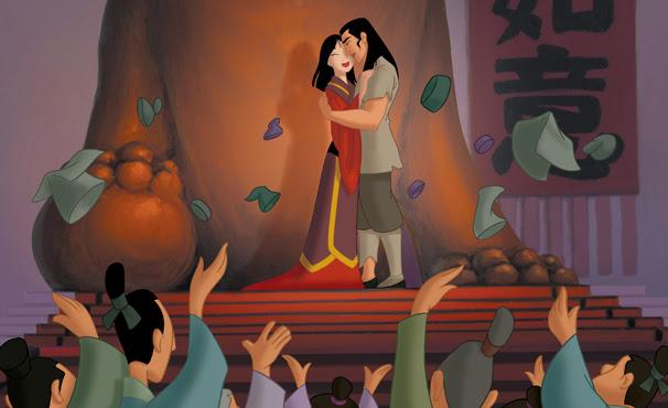 Mulan e capitão Lee se apaixonam (Foto: Divulgação / Disney)