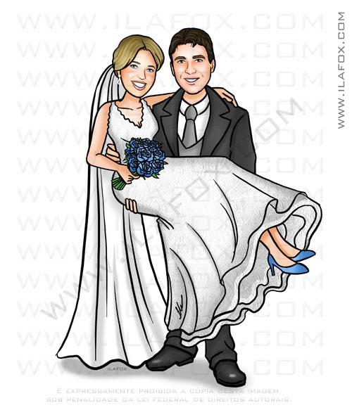 caricatura casal, caricatura noivos, caricatura para casamento, by ila fox