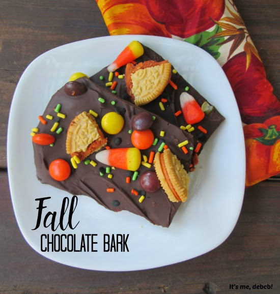 Fall Chocolate Bark- It's me, debcb!