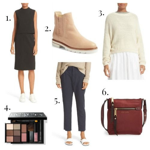 Diane von Furstenberg Dress - Stuart Weitzman Boots - Vince Sweater - Bobbi Brown Makeup - Vince Trousers - Marc Jacobs Handbag