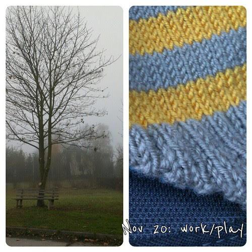 Nov 20: work/play #fmsphotoaday #nofilter #tree #knitting