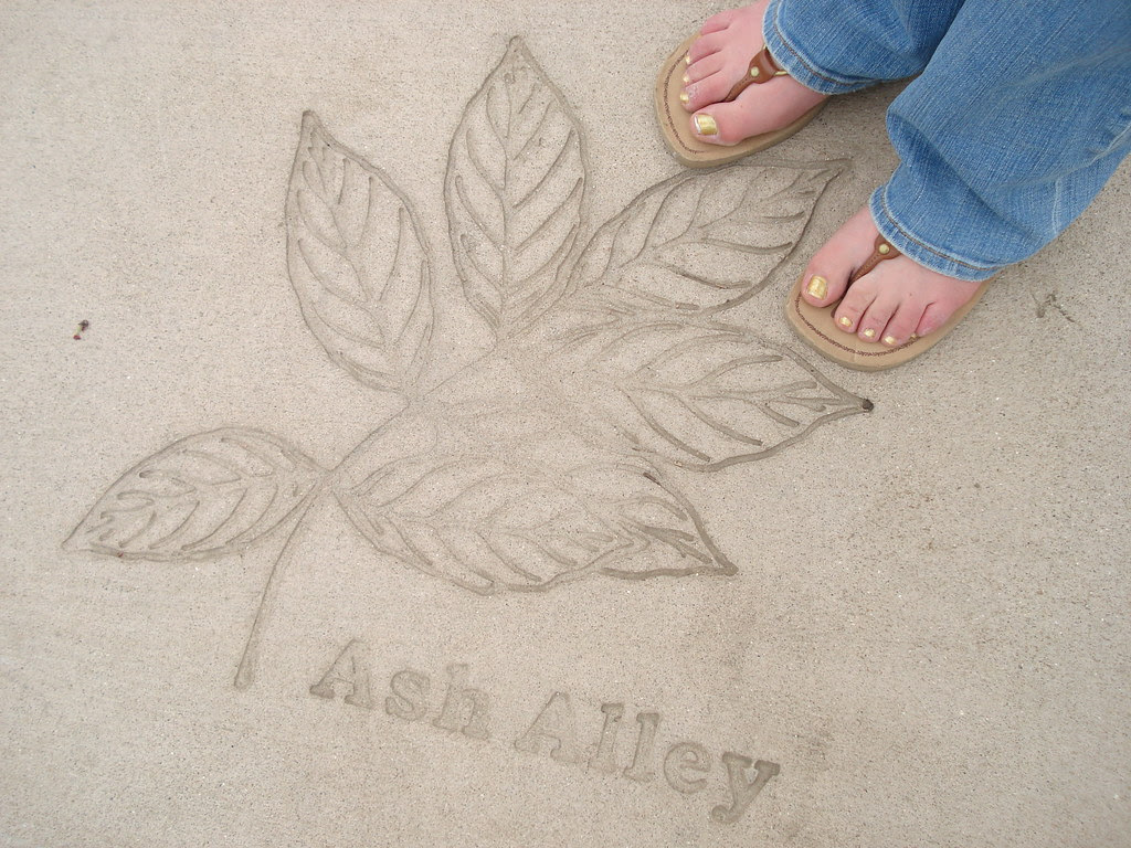 My feet at Ash Alley