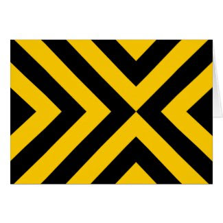 Yellow and Black Chevrons card