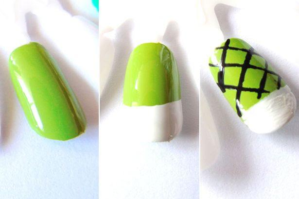 Tennis court nail art