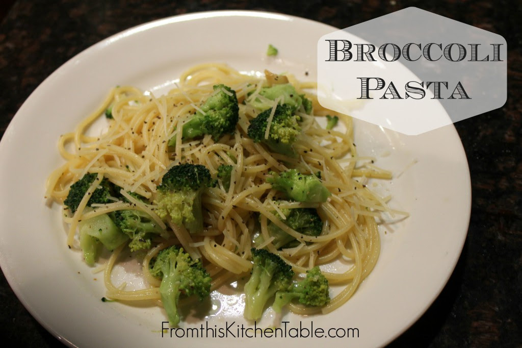 Broccoli Pasta coated with garlic and red pepper infused olive oil. Super simple and tons of flavor. Great as a side or main dish.