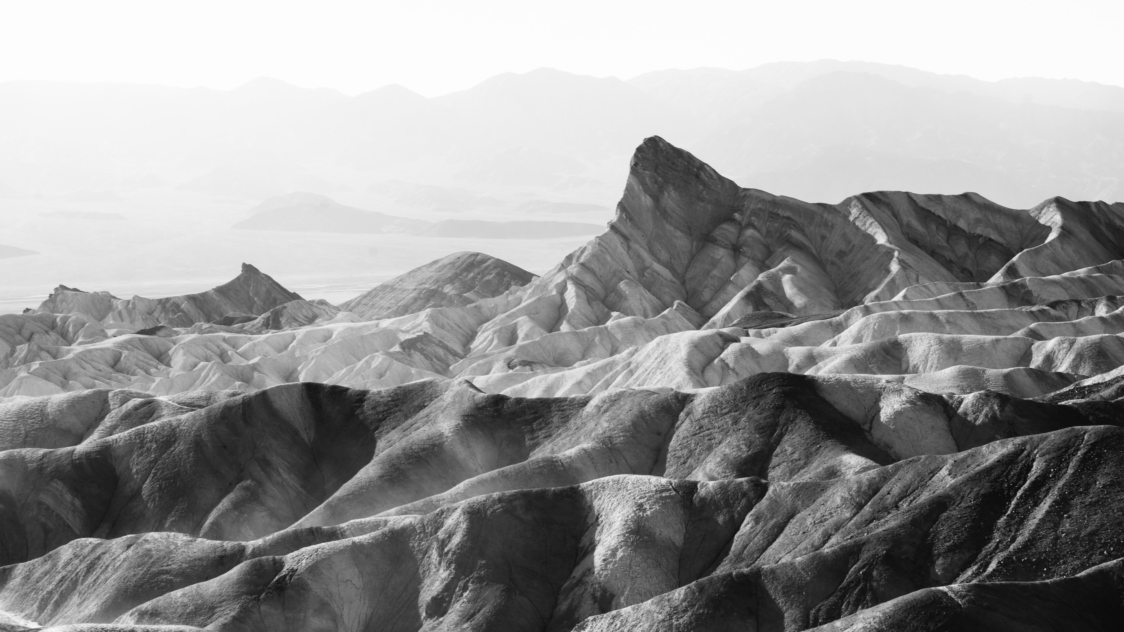 Landscape Black And White Desert And Death Valley Hd 4k Wallpaper