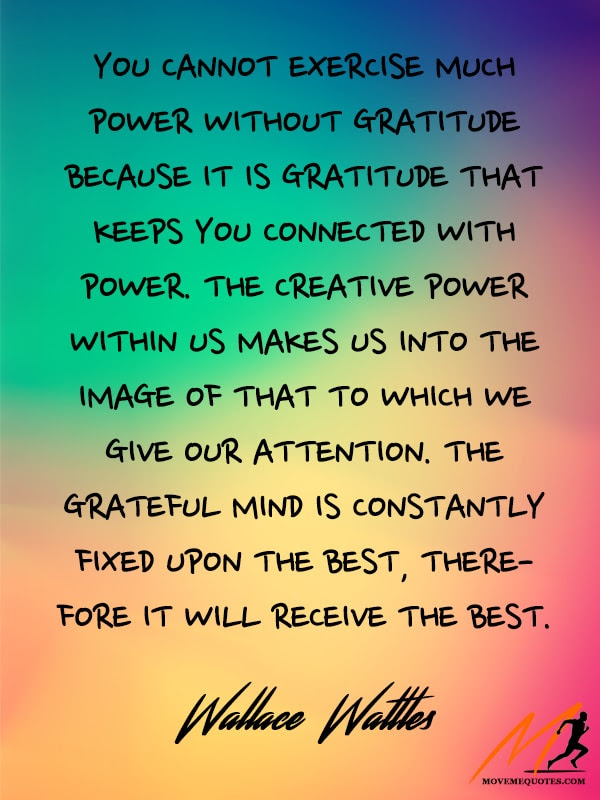 The Connection Between Gratitude And Power Moveme Quotes