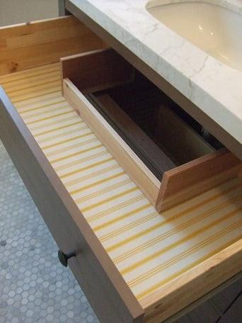 Vanity from HEMNES Dresser - IKEA Hackers
