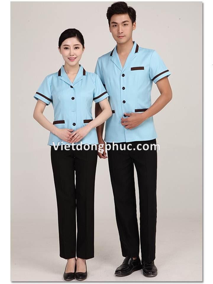 đồng phục nhân viên tạp vụ