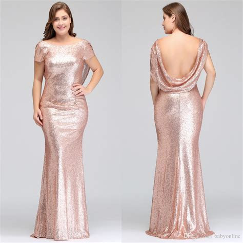 Gold Lace Bridesmaid Dresses V Neck Plus Size Long Sleeves