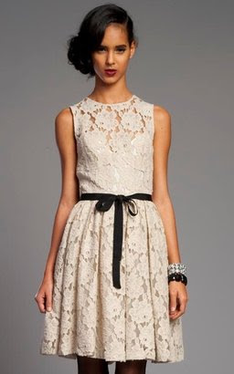 Tracy Reese Nougat Classic Lace Frock