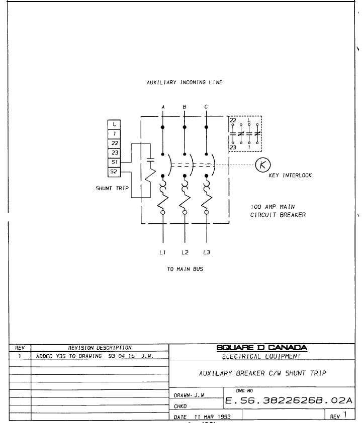33 square d shunt trip breaker wiring diagram  wiring