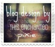 blog design by this enchanted pixie
