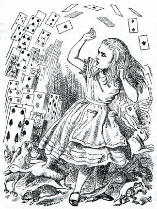 Image result for alice in wonderland nothing but a pack of cards