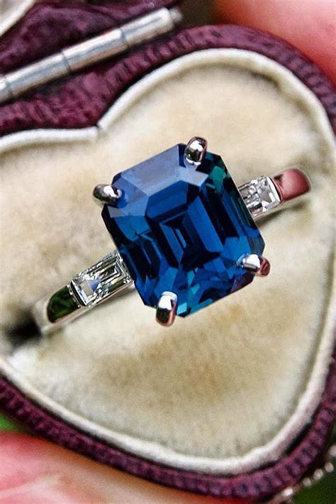 45 Magnificent Sapphire Engagement Rings   Oh So Perfect
