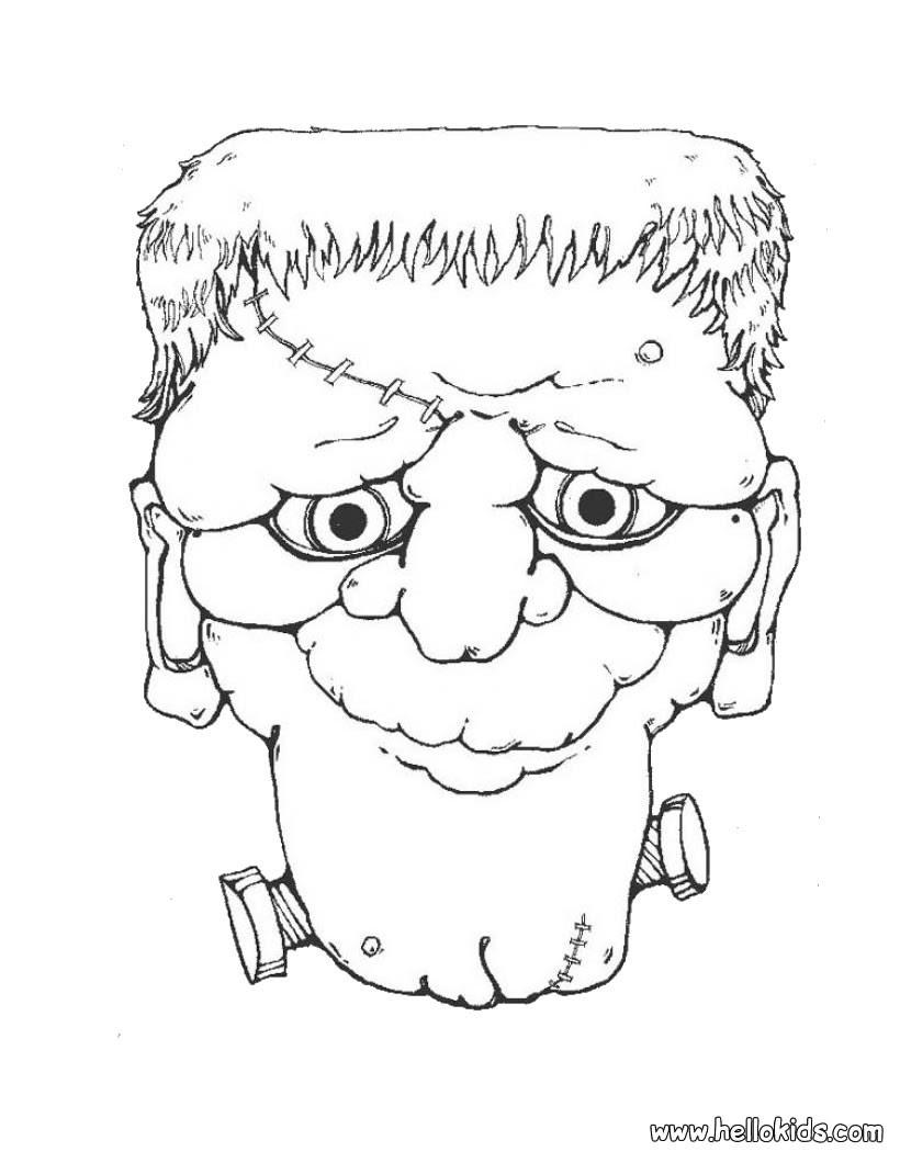 Frankenstein Kopf zum Ausmalen