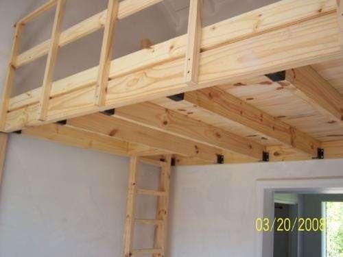 Casas de madera prefabricadas altillos en madera bogota - Como hacer un altillo de madera ...