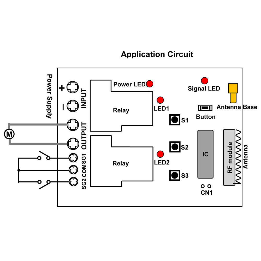 rf remote circuit diagram for kids car