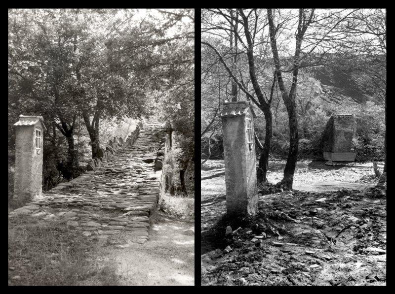 Το γεφύρι της Γκιάνας, στο Ζαγόρι, το οποίο δεν υπάρχει πια.
