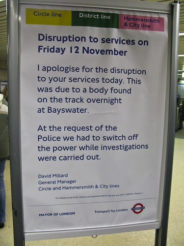 Trouble on circle line by Eric